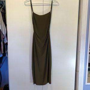 Boohoo Open Back Midi Dress